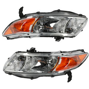 Left Or Right Housing Chrome Headlights For 2006 2011 Honda Civic 2 Door Coupe