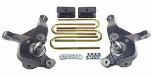 Lift Kit 4 Front Spindles 2 Rear Fab Steel Blocks Fits 2001 09 Ford Ranger 4x2