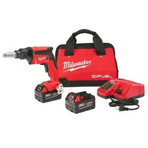 Milwaukee 2866 22 18 volt 5 0ah M18 Fuel Auto Start Drywall Screw Gun Kit
