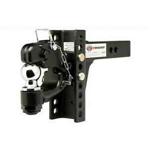 One Mount 10015 Adjustable Pintle Mount With 2 5 16 Hitch Ball