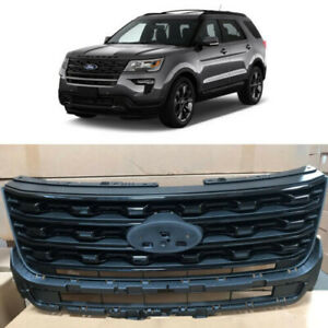 Glossy Black Front Upper Bumper Grill Grille For Ford Explorer 2016 2017 Factory