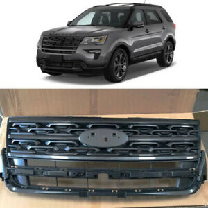Gray Front Upper Bumper Grill Grille For Ford Explorer 2018 2019 2020 Factory