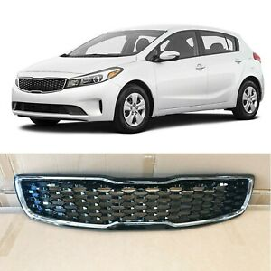 Chrome Bumper Grill Replacement For Grille 2017 2018 Kia Forte5 Hatchback Sedan