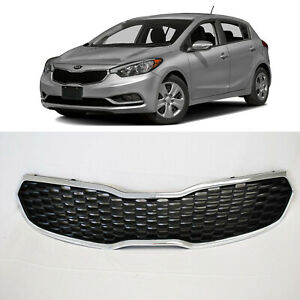 Front Bumper Grill Grille Assembly Chrome For 2014 2015 2016 Kia Forte Forte5