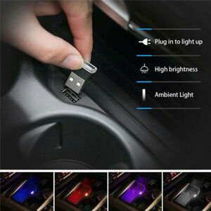 Mini Lamp Bulb Accessories Usb Led Car Interior Light Neon Atmosphere Ambient