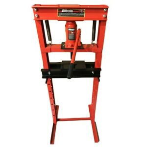 New 12 Ton Shop Press Floor H Frame Press Plates Hydraulic Jack Stand Equipment