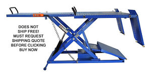 New Ideal 2200 Lb Motorcycle Trike Electric Hydraulic Lift Lifting Table
