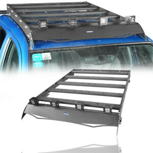 Top Roof Rack Luggage Cargo Carrier W 4x Led Lights For Toyota Tacoma 05 15 4dr