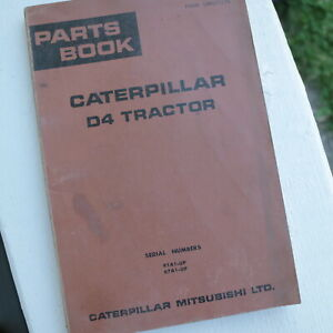 Cat Caterpillar Mitsubishi D4 Tractor Crawler Parts Manual Book 91a 67a Series