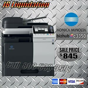 Konica Bizhub C3350 Multifunction Color Office Copier printer scanner Fax