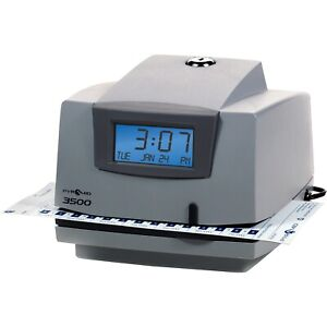 Pyramid Time Systems Light duty Time Clock Electronic 6 x5 1 2 x5 Gy charcoal