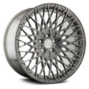 20 X 10 25 Ag M540 Wheel Set Audi A7 A8 Q5 5x112 Rims Concave Custom Brushed