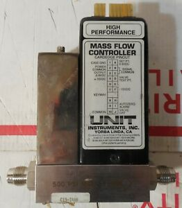 Brooks Unit Instr Ufc 1400a Nitrogen Gas N2 500 Sccm Mass Flow Controller