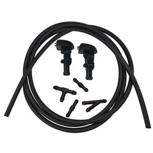 Windshield Wiper Washer Nozzles Hose Kit For Ford F150 Flex Taurus X Freestyle