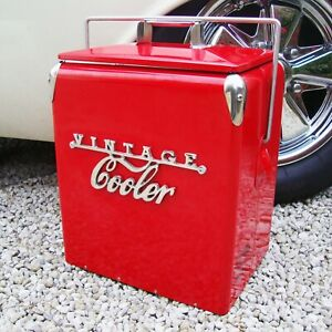 VINTAGE COOLER Coolbox RED Retro coca cola Coke Cool box wedding present 79VC