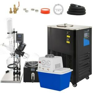 5l Rotary Evaporator With Vacuum Pump Chiller 0 90rpm Accurate Lcd Screen
