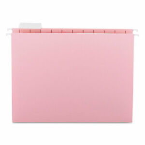 Smead Hanging File Folders 1 5 Tab 11 Point Stock Letter Pink 25 box 64066