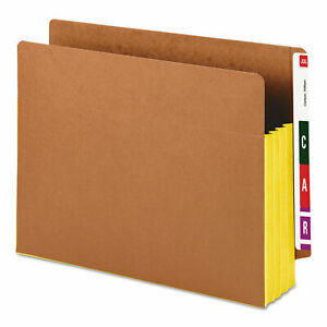 Smead 3 1 2 Exp File Pockets Straight Tab Letter Yellow 10 box 73688