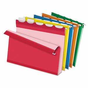 Pendaflex Ready tab Hanging File Folders 2 Capacity 1 5 Tab Letter Assorted 20