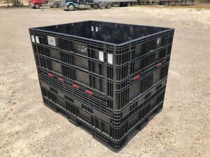 Pallet Box Storage Container Collapsible Ropak Orbis 64x48x50 65x48x50 Bin