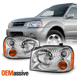 2 Pcs For 2001 2004 Nissan Frontier Oe Style Pair Headlights Housing Chrome