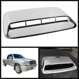 Bonnet Scoop Hood Cover Abs Chrome For Toyota Hilux Tiger Mk4 Mk5 Pickup 98 04