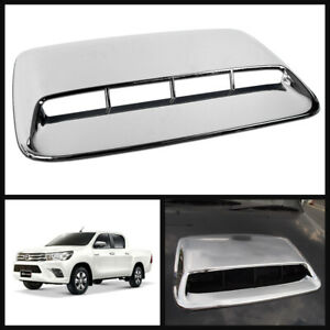 Chrome Front Scoop Bonnet Hood Cover For Toyota Hilux Revo M70 M80 15 16 17 18