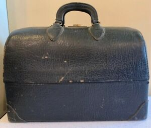 Emdee By Schell Antique Vintage Leather Doctor S Bag Steampunk