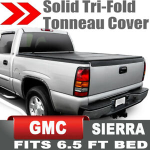 Hard Solid Tri Fold Tonneau Cover For 99 06 Silverado Sierra 6 5ft 78 Short Bed