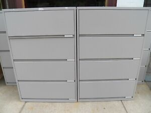1 Meridian 4 Drawer Lateral Files Filing Cabinets 36 X 18 X 55 Office Furni