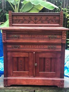 Antique Eastlake Dresser Wash Stand Local Pickup In Houston Tx