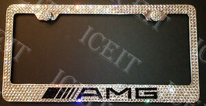 Mercedes Amg Stainless Steel License Plate Frame Made With Swarovski Crystals