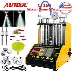 Autool Ct200 Ct150 Ultrasonic Gasoline Fuel Injector Cleaner Tester For Car Van