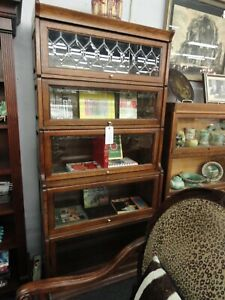 Lawyer S Or Barrister S Bookcase Leaded Glass