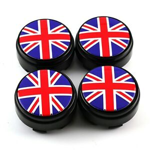 4x Wheel Center Caps Rotate Flag Style For Rays Ze40 Te37 Rota G force 17 wheel