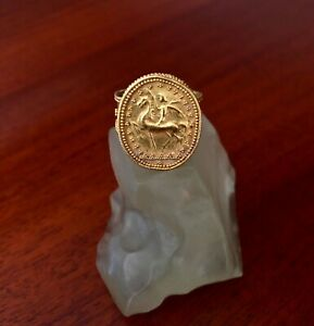 Outstanding Ancient Etruscan Gold Ring Super Rare Super Quality