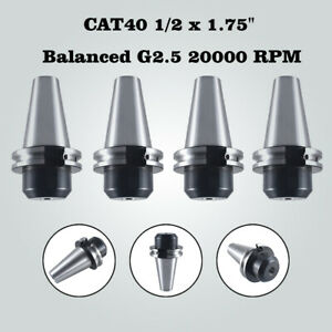 4pcs Cat40 1 2 X 1 75 End Mill Tool Holder Balanced G2 5 20000 Rpm For Hass Us