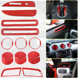 Interior Accessories Trim Dash Air Outlet Shift Gear Cover For Ford Mustang 15