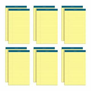 Tops Docket Writing Pads 8 1 2 X 14 Legal Rule Canary Paper 50 Sheets 12