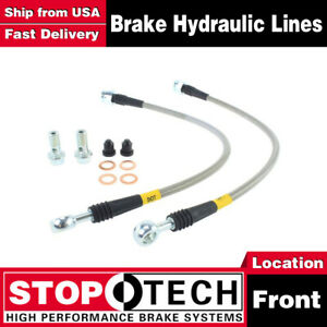 Stoptech Front Stainless Steel Braided Brake Lines For 1990 2005 Mazda Miata