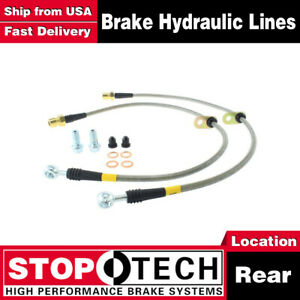 Stoptech Rear Stainless Steel Braided Brake Lines For 2010 2015 Chevrolet Camaro