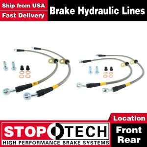 Stoptech Front Rear Pairs Stainless Steel Brake Lines For 1999 2003 Acura Tl