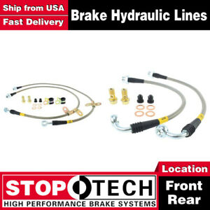 Stoptech Front Rear Stainless Steel Braided Brake Lines For 2006 2010 M35