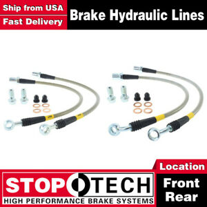 Stoptech Front Rear Stainless Steel Brake Lines For 1998 2000 Lexus Gs400