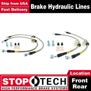 Stoptech Front Rear Stainless Steel Brake Lines For 2000 2005 Honda S2000