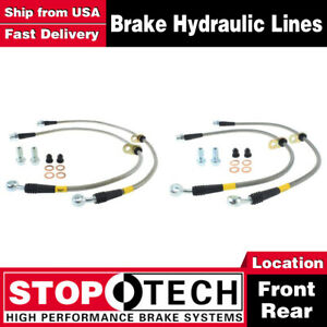 Stoptech Front Rear Pairs Stainless Steel Brake Lines For 2002 2006 Acura Rsx