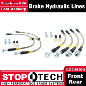 Stoptech Front Rear Pairs Stainless Steel Brake Lines For 2007 2013 Acura Mdx