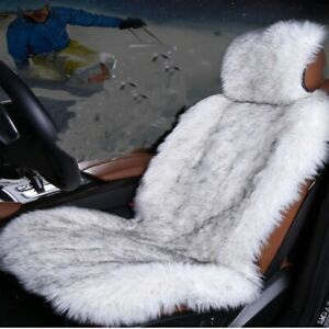 Long Wool Plush Faux Sheepskin Car Seat Cover Artificial Seat Covers For Cars