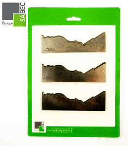 New Moulding Knives Kit Of 3 Cornice 6 0 Woodmaster Compatible 1009