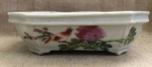 Antique Chinese Porcelain Narcissus Planter Bowl Famille Rose 19th Circa 1880